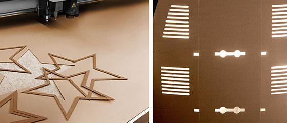 Produktentwicklung prototyp Sterne ausgestochen