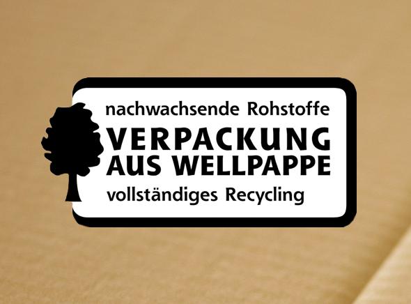Recycling Zertifizierung Verpackung aus Wellpappe